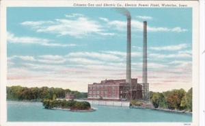 Iowa Waterloo Citizens Gas & Electric Copany Electric Power Plant Curteich