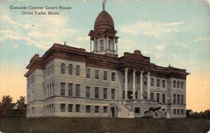 Great Falls Montana Cascade Court House Street View Antique Postcard K33607