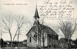 Waterville Kansas~Lutheran Church~They've Changed It~Doesn't Look Same~1910 PC