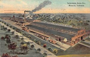 Muncie IN Interstate Automobile Factory Postcard