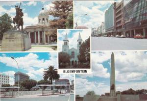 BLOEMFONTEIN, South Africa, 1950-1970's; Raadsaal With Statue Of General De W...