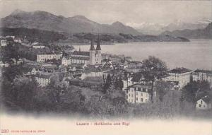 Switzerland Luzern Hofkirche und Rigi