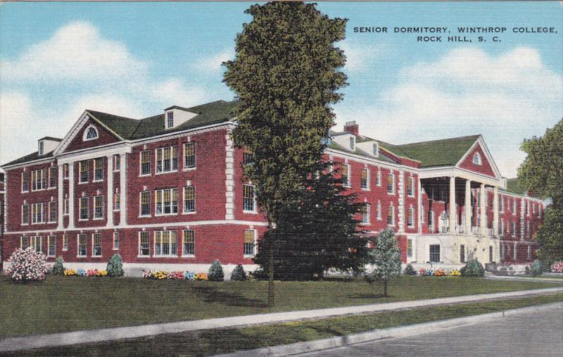 Street view,  Senior Dormitory,  Winthrop College,  Rock Hill,  South Carolin...
