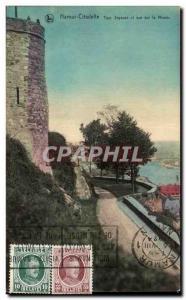 Old Postcard Namur citadel joyful Tower and river view