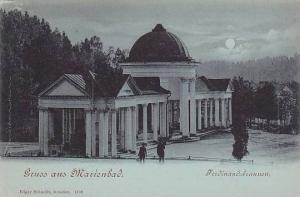 Grus aus Marienbad, Czech Republic, 1890s , Ferdinandsbrunnen