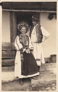 Hungary Morlaka Couple In Traditional Costume 1934 Real Photo