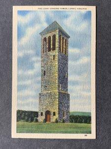 The Luray Singing Tower Luray VA Linen Postcard H1291082407