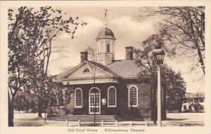 Old Court House Williamburg Virginia Albertype