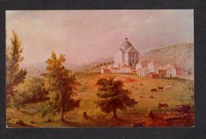 ME Charles Codman Artist Painting State House AUGUSTA MAINE Postcard PC
