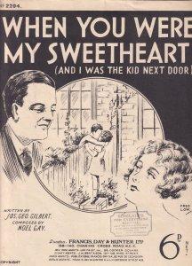 When You Were My Sweetheart Noel Gay Antique Olde Sheet Music
