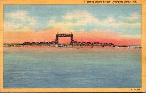Virginia Newport News James River Bridge Curteich