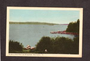 NS La Have River nr Bridgewater Nova Scotia Canada Carte Postale Postcard
