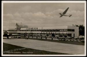 3rd Reich Germany Essen Flughafen Airport Planes  RPPC 64205