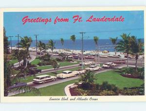Pre-1980 GREETINGS FROM POSTCARD Fort Lauderdale Florida FL ho5835