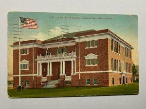 POSTED 1919 VINTAGE POSTCARD - WASHINGTON GRAMMER SCHOOL PETALUMA USA (KK1024)