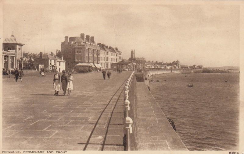 PENZANCE, England, PU-1956; Promenade and Front
