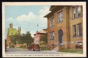 PEI Prince Edward Island SUMMERSIDE Town Hall Armoury and Post Office PECO WB