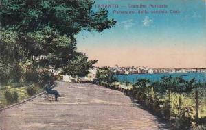 Italy Taranto Giardino Peripato Panorama della vecchia Citta 1917