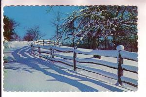 Shadows in the Snow, Fence in Maine, Maine, Free Lance Photographers Guild