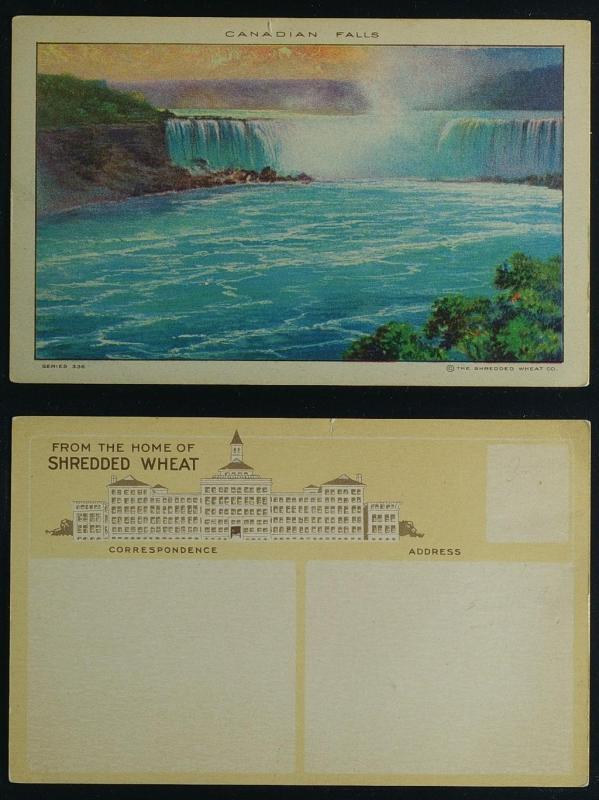 Canadian Falls Shredded wheat Advertising (Niagara falls NY)