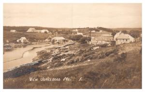 Maine .  Aerial View of Jonesboro  , Lumber Mill ,  RPC