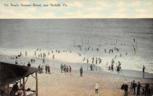 LPS09 Norfolk Virginia Summer Resort Beach View Postcard