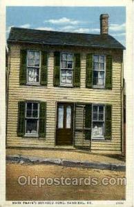 Mark Twain's home, Hannibal, Mo, Missouri, USA Famous People Postcard Post Ca...