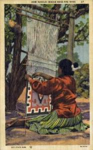Navajo Rugs Indian Postcard Post Cards  Navajo Rugs