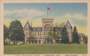 Ohio Springfield Main Building Ohio Masonic Home Curteich