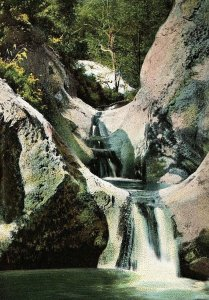 C.1900-04 Seven Falls, Mission Canon, Santa Barbara California Postcard P122