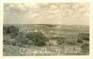1940s Scott City Camp Christy Kansas RPPC Photo Postcard 5131