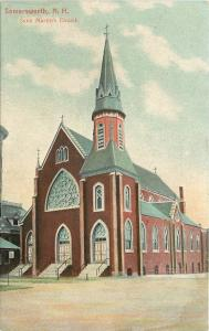 Somersworth NH~Stained Glass Windows~Nice Steeple~Saint Martin's Church~1910