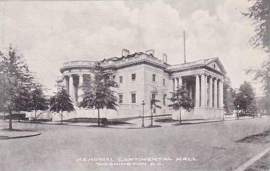 Washington DC Memorial Continental Hall D A R Albertype
