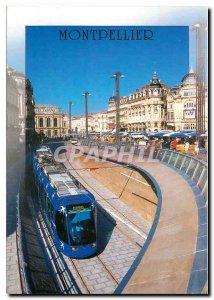 Postcard Modern Montpellier Place de la Comedie