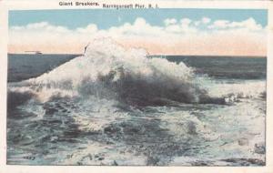 Giant Breakers at Narragansett Pier RI, Rhode Island - WB