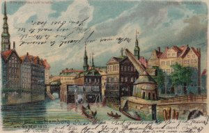 Hold-To-Light ; HTL : Der Grouse Brand vun HAMBURG , Germany , 1903 ; Hidden ...