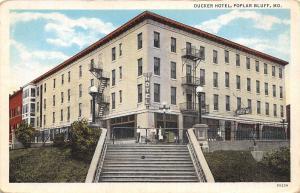 Poplar Bluff Missouri~Ducker Hotel~Staff at Top of Steps~Cafe Soda~1920s PC
