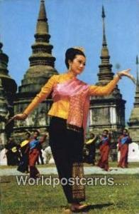 Chiengmai North Thailand Thailand Fan Leb Dance Performed Chiengmai North Tha...