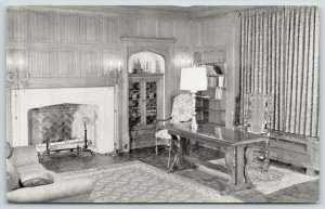 Portage Wisconsin~Fireplace~Portage Public Library~Zona Gale Breese Room~1940s