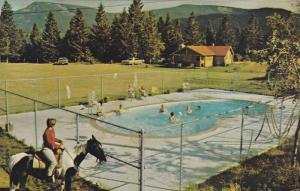Rafter Six Guest Ranch, Swimming Pool, Seebe, Alberta, Canada, 1940-1960s
