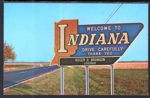 Indiana State Line Marker