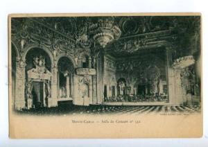 175027 Monaco MONTE CARLO Concert Hall #532 Vintage postcard