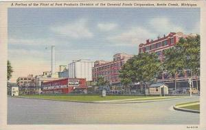 Michigan Battle Creek A Portion Of The Plant Of Post Products Division Of The...