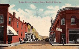 Bedford City Virginia Bridge Street Looking North Vintage Postcard JA454684