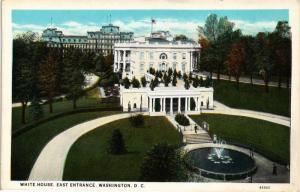 WHITE HOUSE EAST ENTRANCE WASHINGTON DC