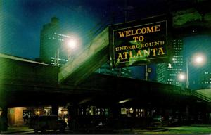 Georgia Atlanta Welcome To Underground Atlanta