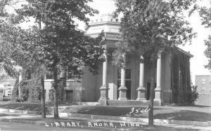 Anoka Minnesota Library Real Photo Antique Postcard K82230
