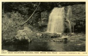 NC/TN - Great Smoky Mountains National Park. Bridal Veil Falls