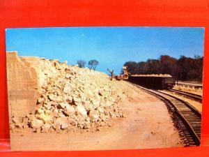 Postcard TX Beaumont Loading Sulphur into Freight Cars Texas Gulf Sulphur CO