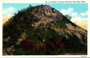 Minnesota Red Wing Mt La Grange Showing Stairway Curteich